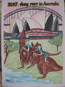 2007年他们在澳大利亚相识