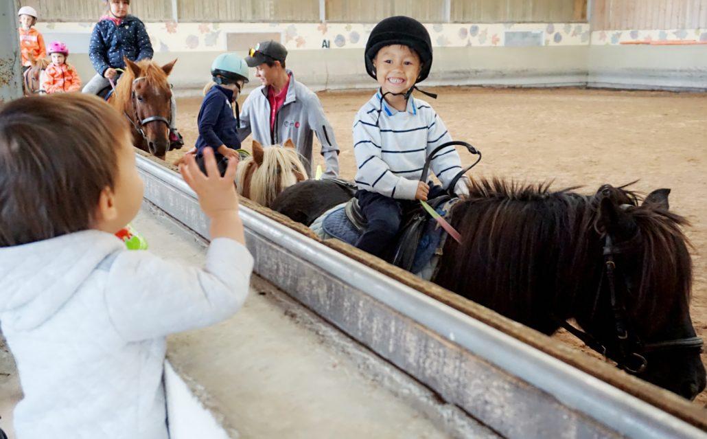 小孩在法国学骑马