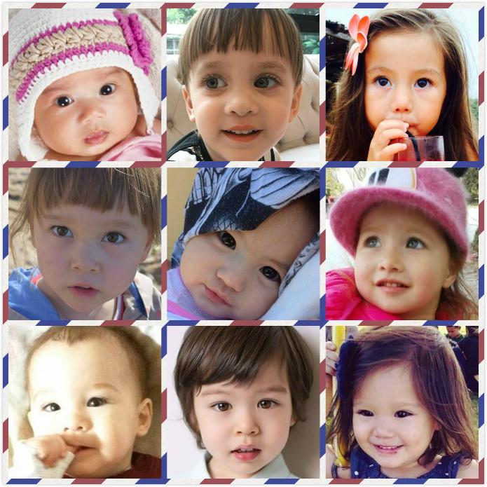 有中国血缘的混血儿(图片来自Asian Mixed Babies)